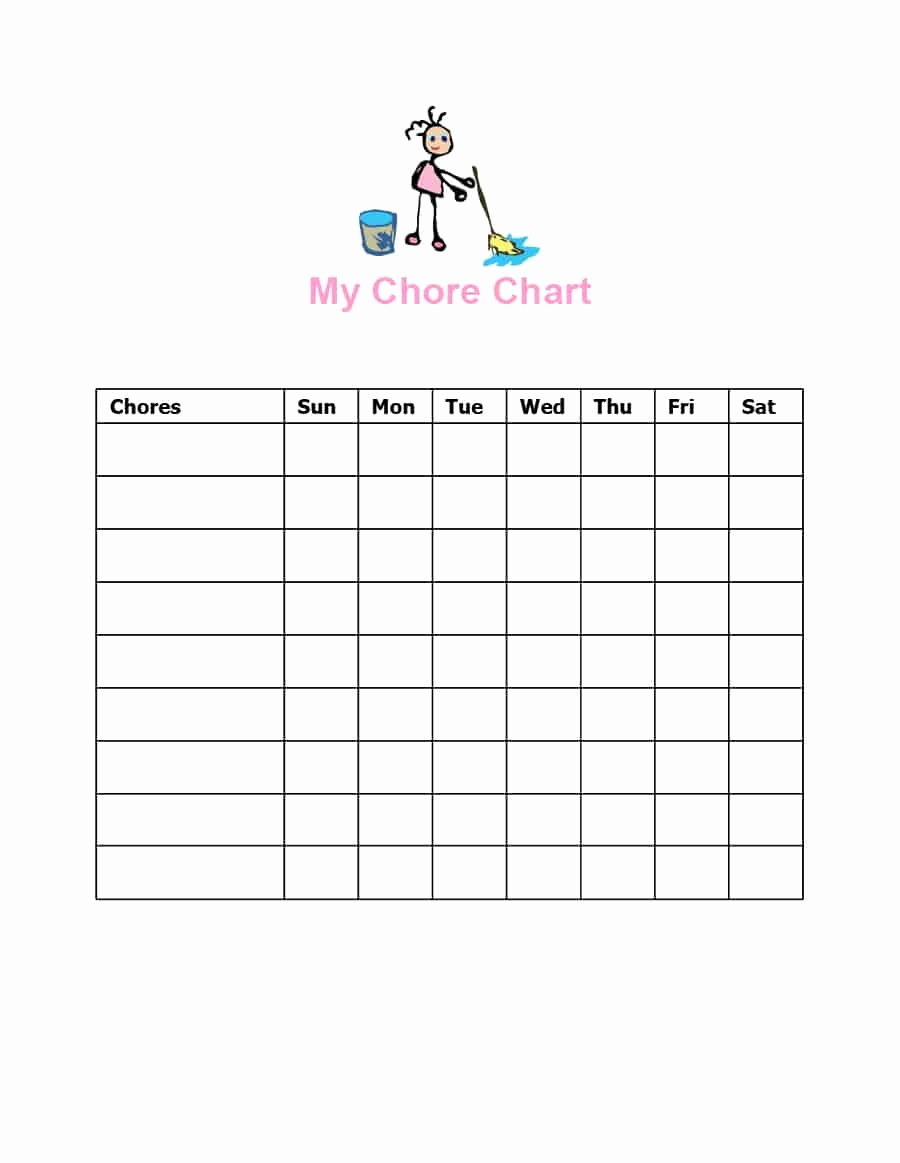 Chore List Template for Adults Fresh 43 Free Chore Chart Templates for Kids Template Lab