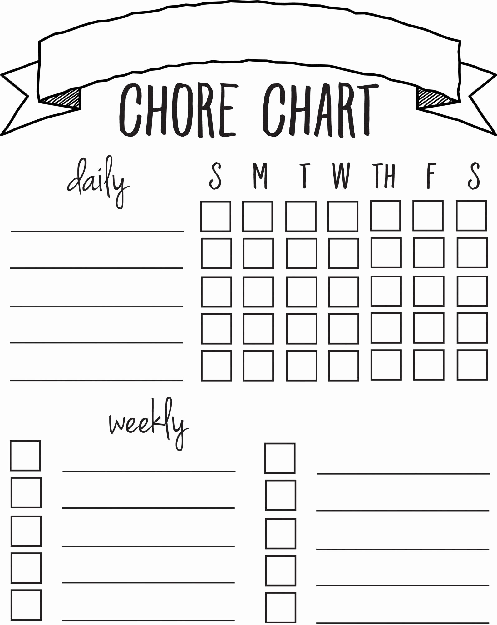 Chore List Template for Adults Fresh Diy Printable Chore Chart