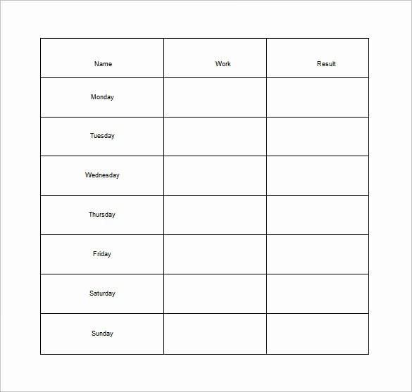 Chore List Template for Adults Inspirational 11 Sample Weekly Chore Chart Template Free Sample