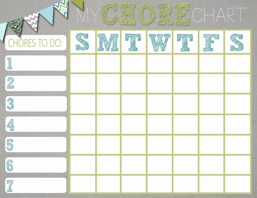 Chore List Template for Adults Unique Chore Charts