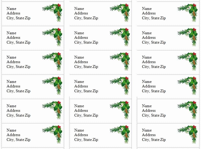 Christmas Address Label Template Free New Free Printable Christmas Return Address Label Template