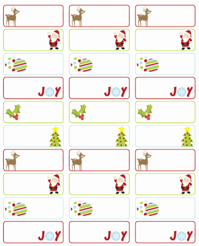 Christmas Address Label Template Free Unique Address Labels Free Address Label Templates On Pinterest