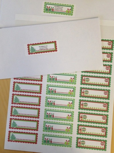 Christmas Address Label Template Free Unique Christmas Labels Ready to Print