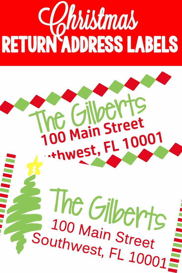 Christmas Address Label Template Free Unique Christmas Return Address Labels