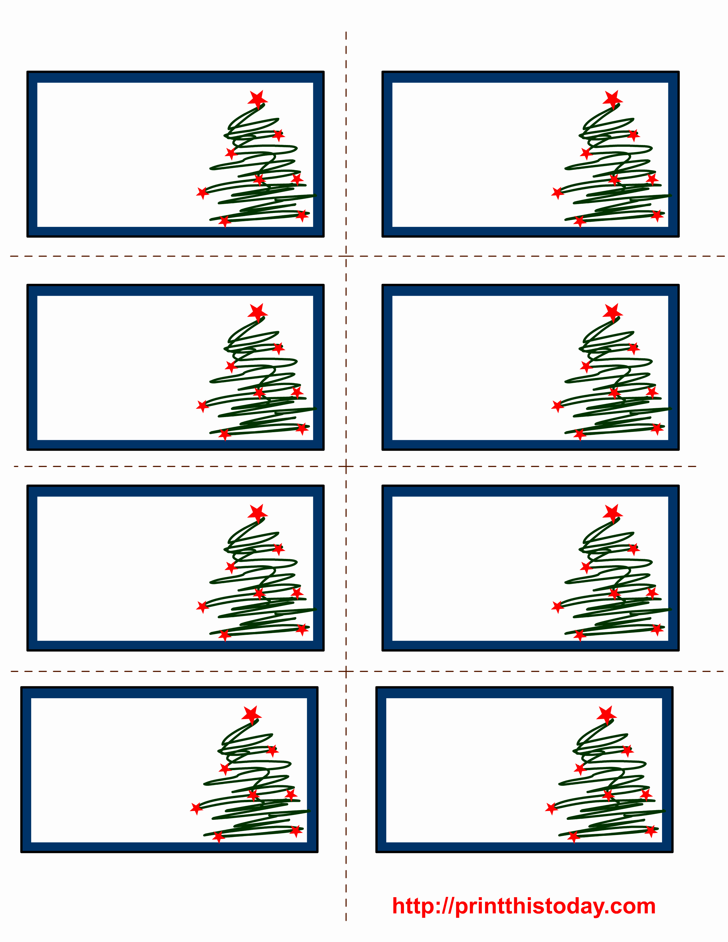Christmas Address Label Template Free Unique Free Printable Christmas Labels with Trees