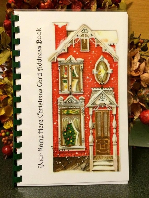 Christmas Card List Address Book Awesome Christmas Card Address Book Personalized by