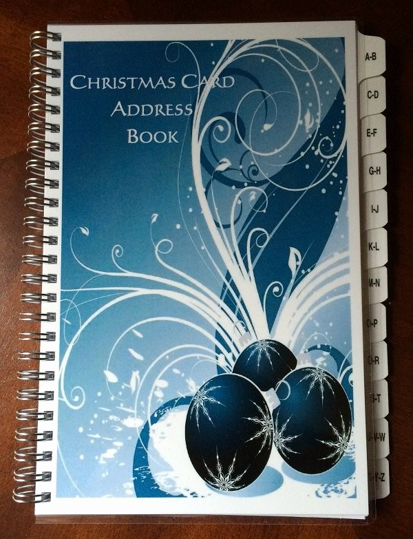 Christmas Card List Address Book Beautiful Christmas Card Address Book Tabs A Z 8 Yrs 475 Entries