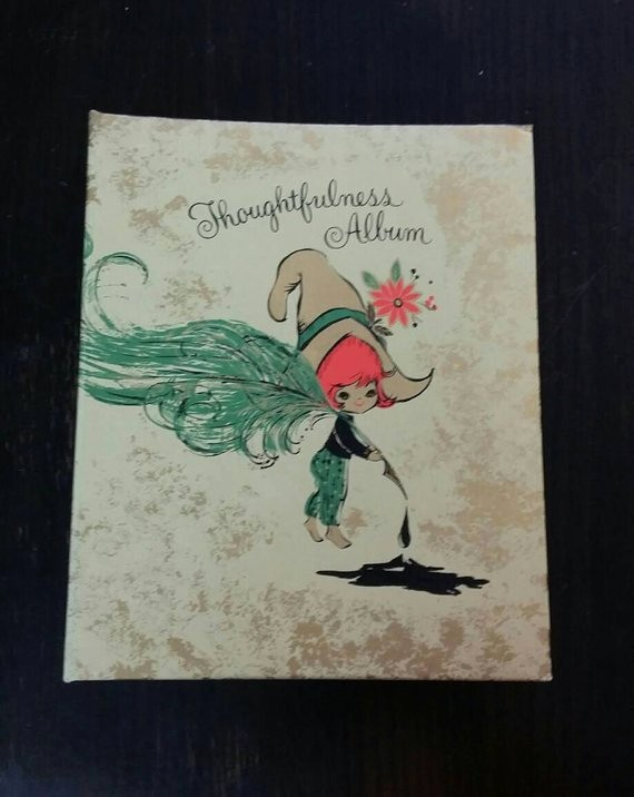 Christmas Card List Address Book Beautiful Vintage Birthday Book Hallmark thoughtfulness Album Address