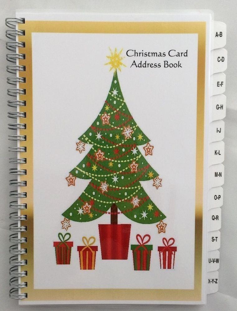 Christmas Card List Address Book Best Of Christmas Card Address Book List A Z Tabs 8 Yr Tracker