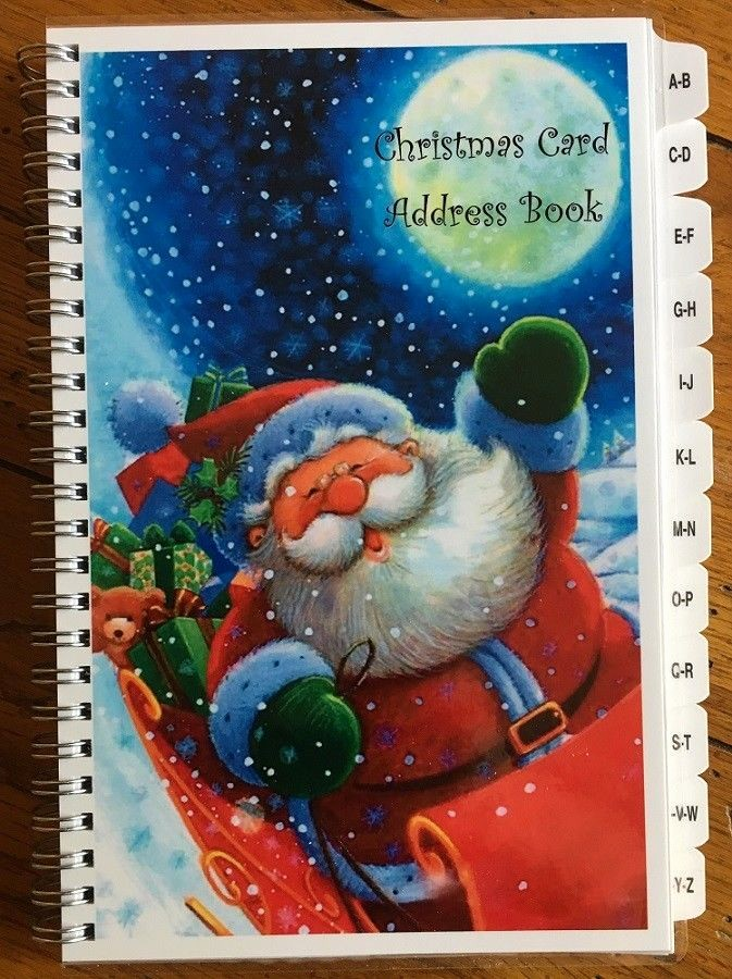 Christmas Card List Address Book Best Of Christmas Card Address Book Santa List A Z Tabs 8 Yr