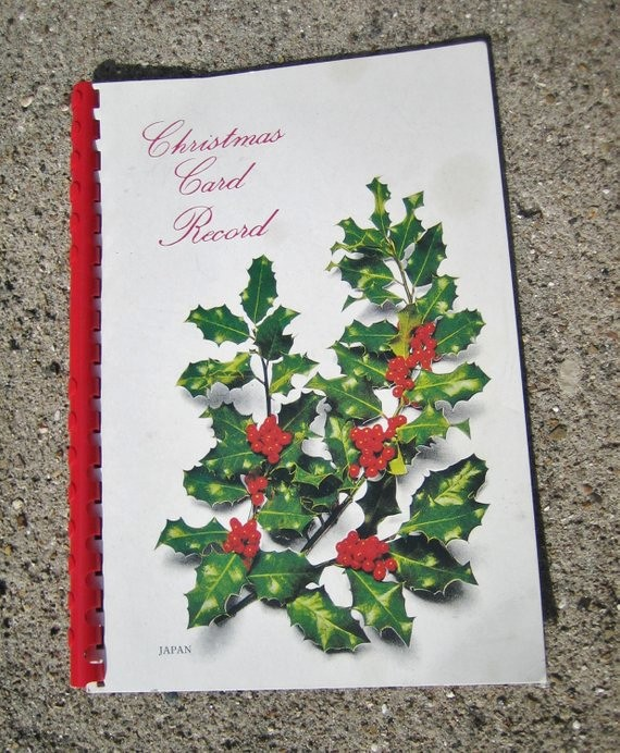 Christmas Card List Address Book Best Of Items Similar to Vintage Christmas Card List Address Book
