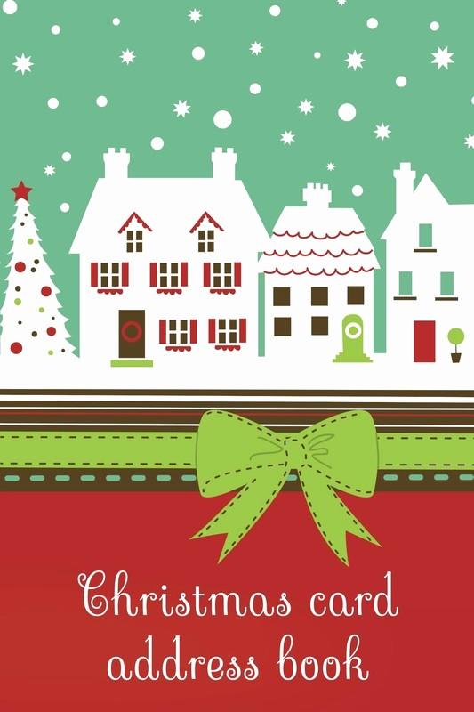 Christmas Card List Address Book Elegant Christmas Card Address Books Luscious Books