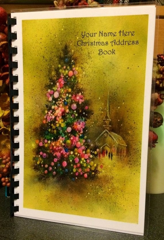 Christmas Card List Address Book Inspirational Christmas Card Address Book Personalized by