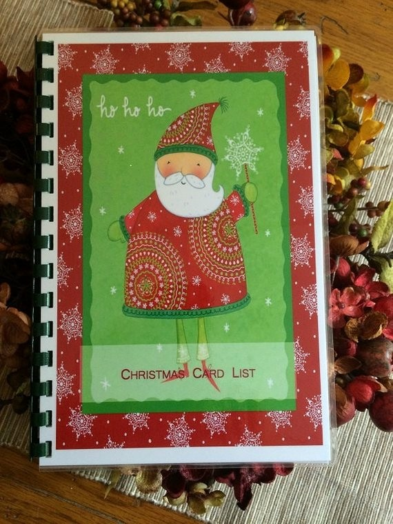 Christmas Card List Address Book Luxury Christmas Card Address Book Personalized by
