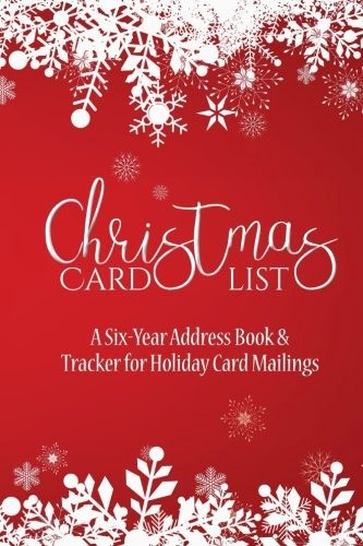 Christmas Card List Address Book Luxury Christmas Card List A Six Year Address Book & Tracker for