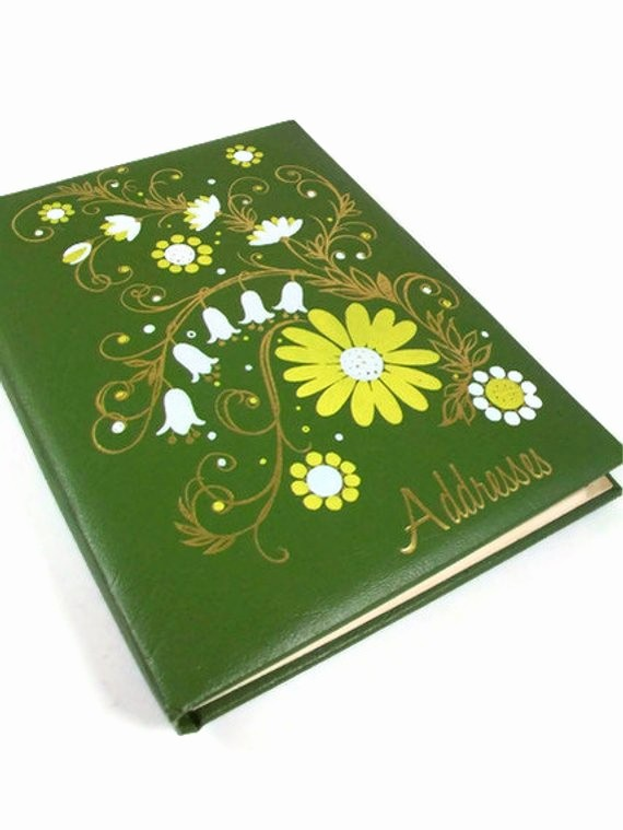 Christmas Card List Address Book Luxury Green Address Book Christmas Card Birthday by A2ndlifevintage