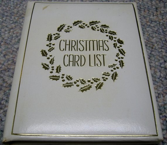 Christmas Card List Address Book New Vintage Christmas Card List Address Book by Rswvintage On Etsy