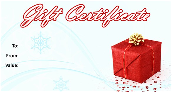 Christmas Certificate Template Free Download Awesome 20 Christmas Gift Certificate Templates Word Pdf Psd