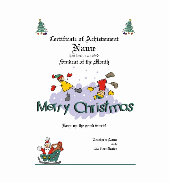 Christmas Certificate Template Free Download Beautiful 20 Christmas Gift Certificate Templates Word Pdf Psd