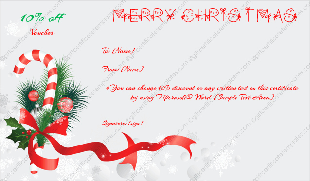 Christmas Certificate Template Free Download Beautiful Christmas Gift Certificate Template 6 Gift Template