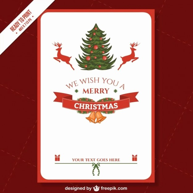 Christmas Certificate Template Free Download Elegant Cmyk Printable Christmas Card Template Vector