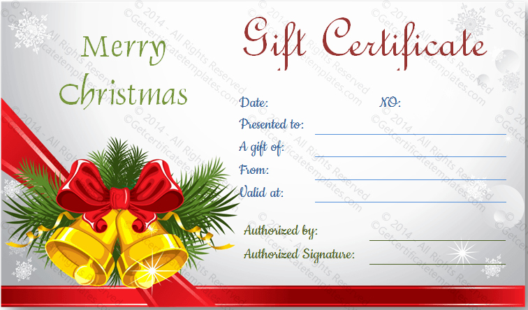 Christmas Certificate Template Free Download Fresh Christmas Bells T Certificate Template