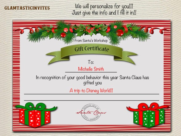 Christmas Certificate Template Free Download Inspirational Gift Certificate Template – 34 Free Word Outlook Pdf