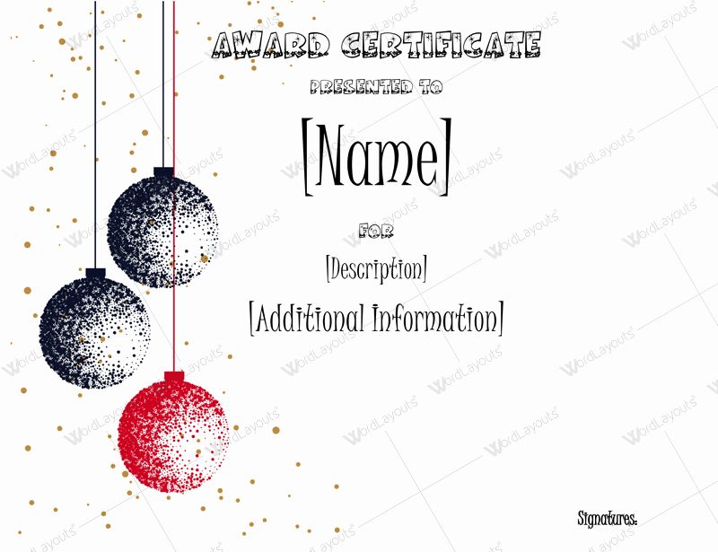 Christmas Certificate Template Free Download Luxury Christmas themed Award Certificate Templates Download In