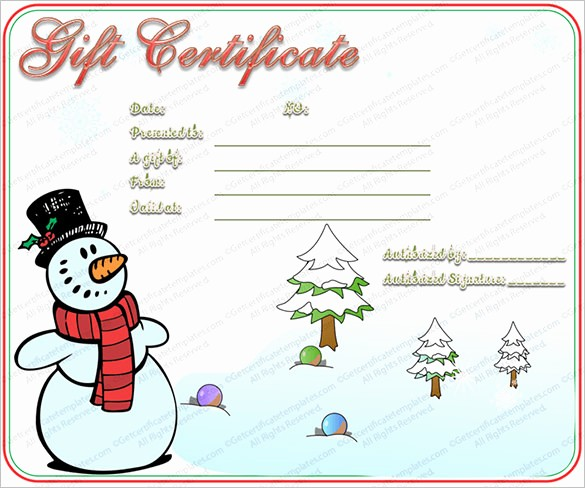 Christmas Certificate Template Free Download New 20 Christmas Gift Certificate Templates Word Pdf Psd