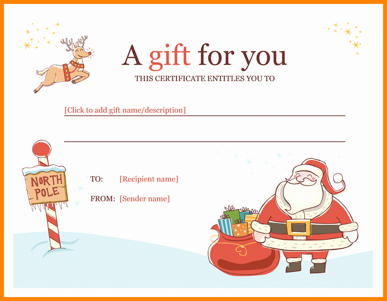 Christmas Certificate Template Free Download Unique 7 T Certificate From Santa Template Free
