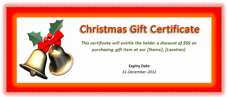 Christmas Certificates Templates for Word Beautiful 9 Best Of Make Your Own Certificate Free Printable