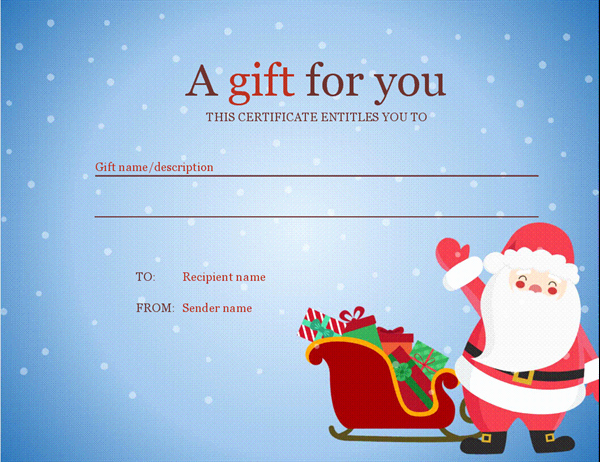 Christmas Certificates Templates for Word Beautiful Christmas T Certificate Christmas Spirit Design