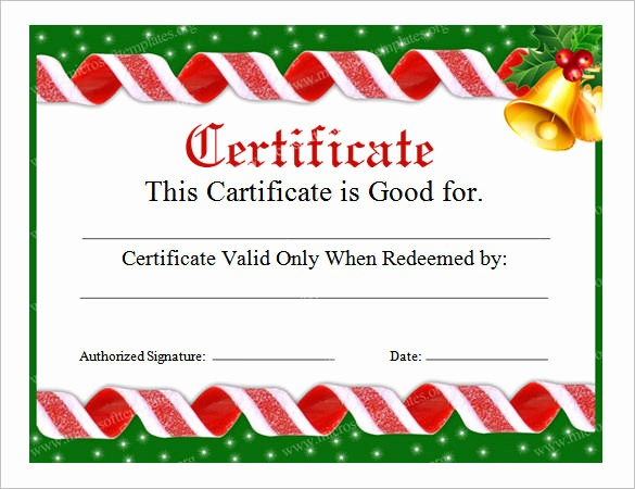 Christmas Certificates Templates for Word Elegant 20 Christmas Gift Certificate Templates – Free Sample