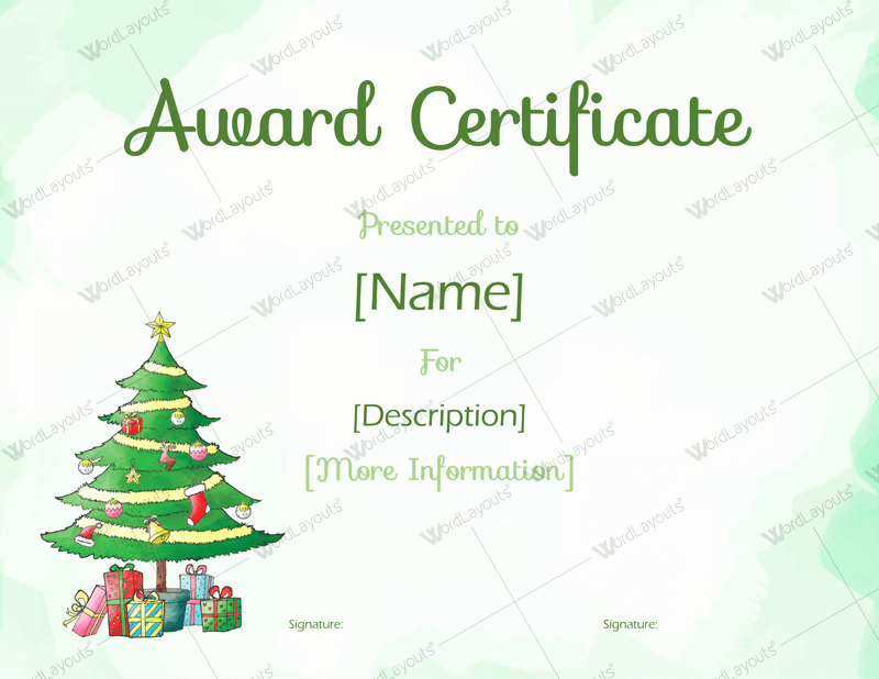 Christmas Certificates Templates for Word Fresh Christmas themed Award Certificate Templates Download In