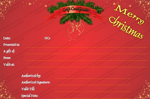 Christmas Certificates Templates for Word Inspirational 20 Christmas Gift Certificate Templates Word Pdf Psd