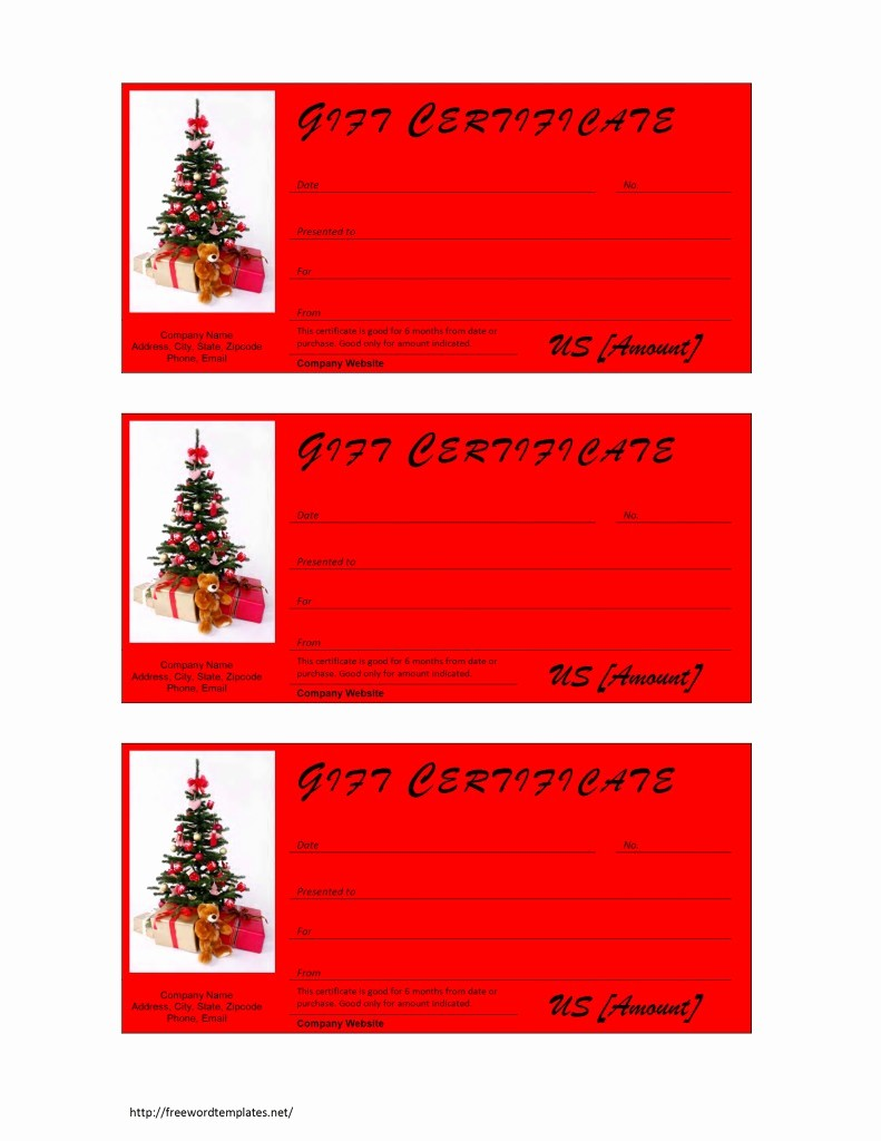 Christmas Certificates Templates for Word Inspirational Christmas Gift Certificate Template