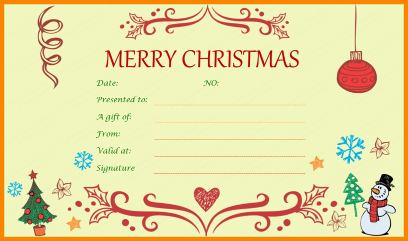 Christmas Certificates Templates for Word Lovely 7 T Certificate From Santa Template Free