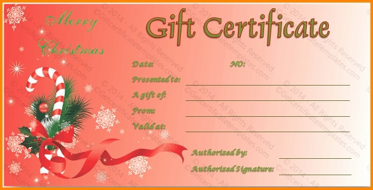 christmas t certificate templates free