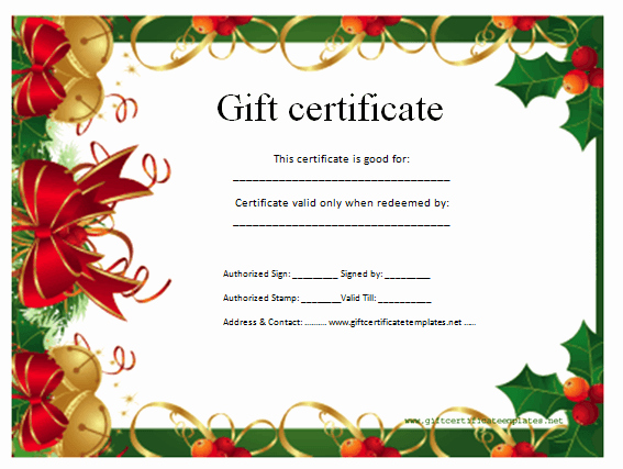 Christmas Certificates Templates for Word Luxury Best S Of Christmas Gift Voucher Template Christmas