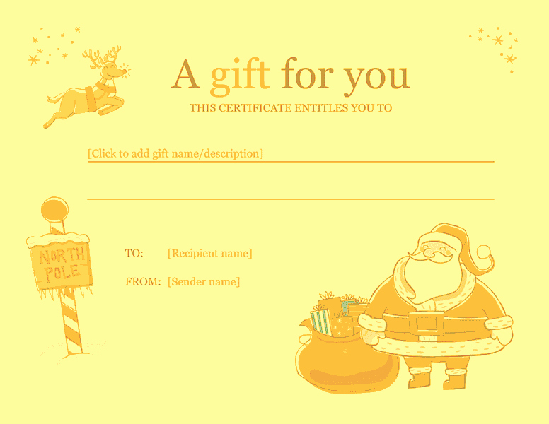 Christmas Certificates Templates for Word Luxury Christmas Gift Certificate Template Word 2010 Free