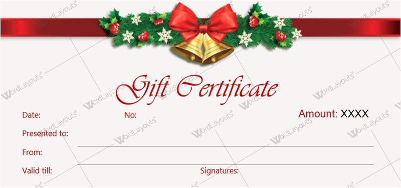 Christmas Certificates Templates for Word Luxury Customizable Christmas Gift Certificate Template