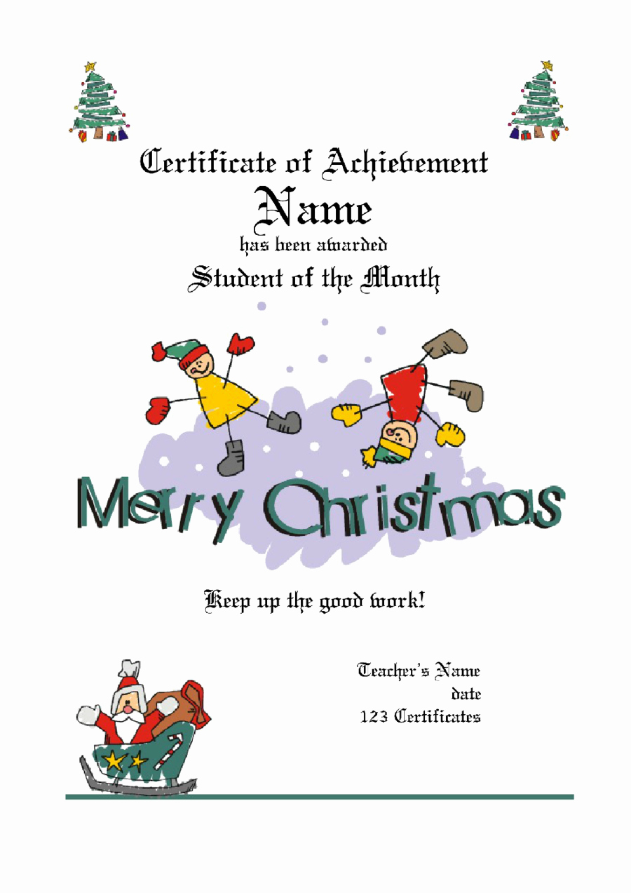 Christmas Certificates Templates for Word Luxury Gift Certificate Template Free Printable Gift