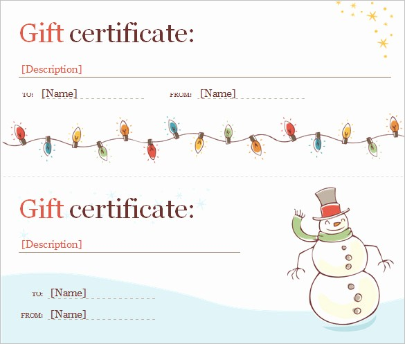 Christmas Certificates Templates for Word Luxury Word Certificate Template 49 Free Download Samples