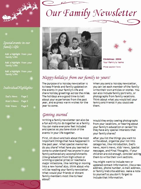 Christmas Family Newsletter Template Free Awesome Holiday Newsletter Templates Project Almanac