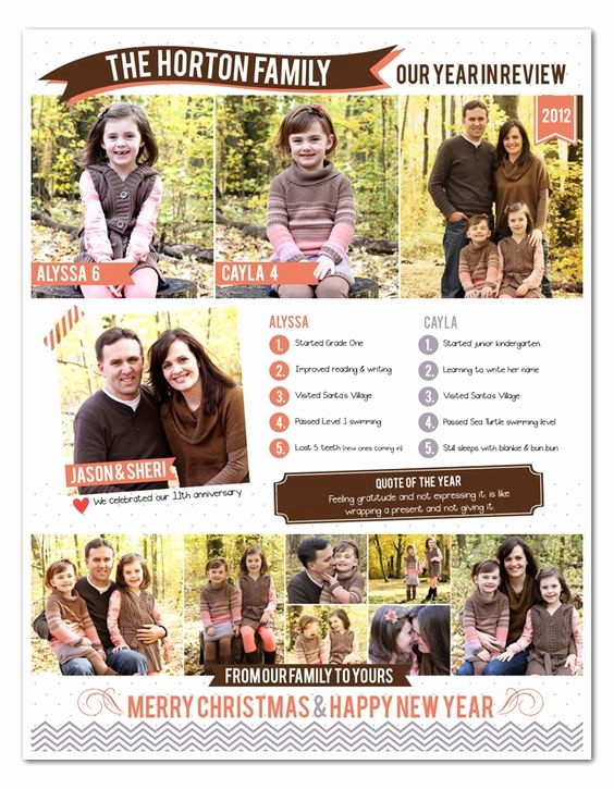 Christmas Family Newsletter Template Free Awesome Pinterest • the World's Catalog Of Ideas