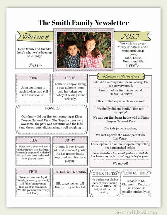 Christmas Family Newsletter Template Free Beautiful 17 Best Images About Holidays Christmas Letter On