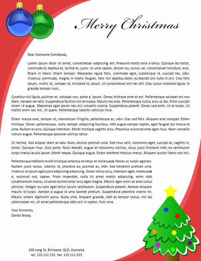 Christmas Family Newsletter Template Free Beautiful 19 Free Christmas Letter Templates Downloads Free