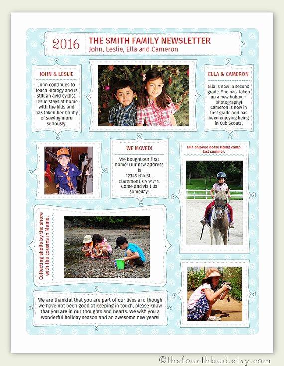 Christmas Family Newsletter Template Free Beautiful Best 25 Christmas Newsletter Ideas On Pinterest