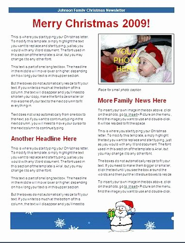 Christmas Family Newsletter Template Free Beautiful Newsletters Family Newsletter Templates Christmas Template