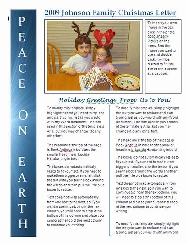 Christmas Family Newsletter Template Free Best Of Best S Of Christmas Newsletter Wording Christmas